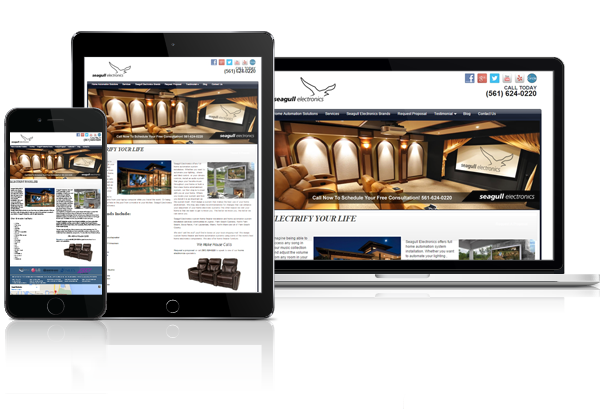 Miami Home Theater and Home Automation Installation Services Web Design - 305-907-7012