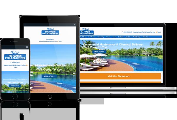 Miami Hot Tub Sales and Service Web Design - 305-907-7012