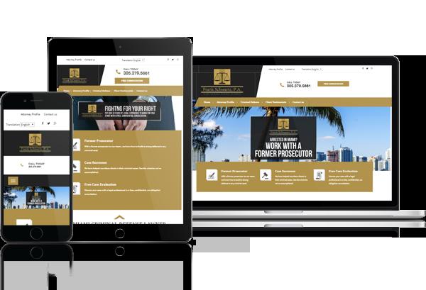 Miami Criminal Defense Attorney Website Design - 305-907-7012