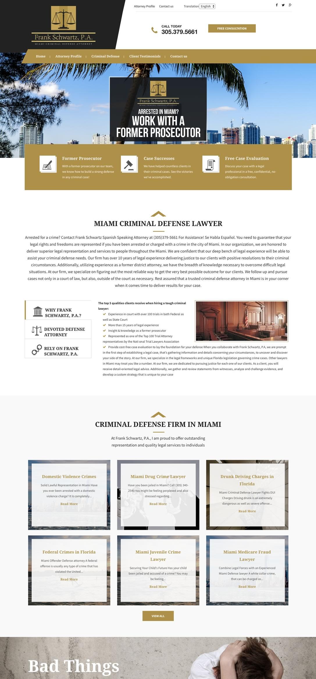 Web Design Portfolio Bullseye Marketing Consultants